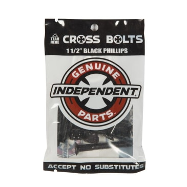 """Independent Trucks - Independent 1 1/2 Inch Phillips Bolts Black 