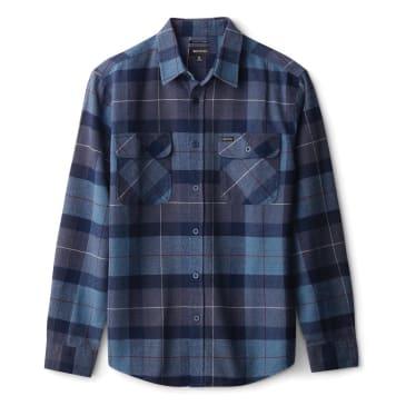 Bowery L/S Flannel   Navy / Carolina Blue