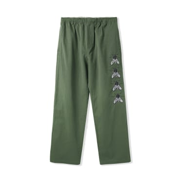 """BUTTER GOODS- """"SWARM EMBROIDERED PANTS"""" (ARMY)"""