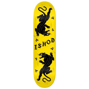 """Real Skateboards - Ishod Cat-Scratch Yellow - 8.25"""""""