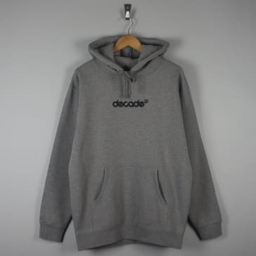 Decade Logo Hood Heather Grey
