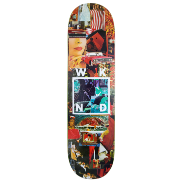 WKND - Red Logo Collage Skateboard Deck - 8.0"