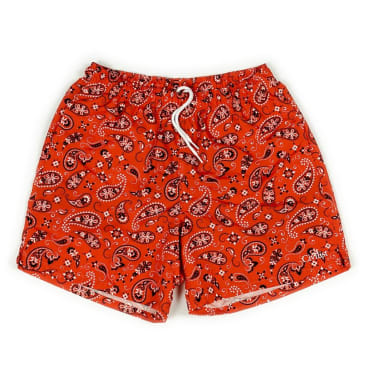 Civilist - Paisley Swim Short - Red