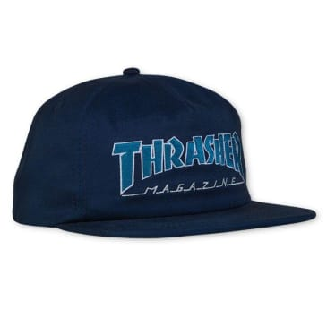 Thrasher Outlined Snapback Cap Navy/Grey