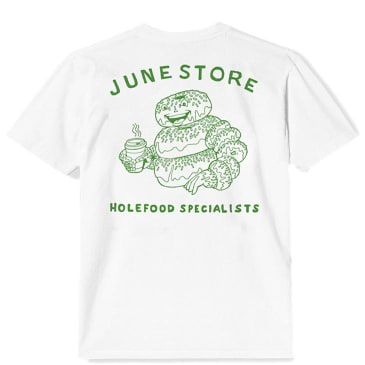 June Store Hole Food Specialist T-Shirt - White / Green