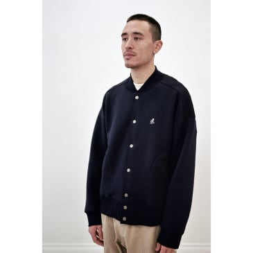Tech Knit Stadium Jacket Double Navy