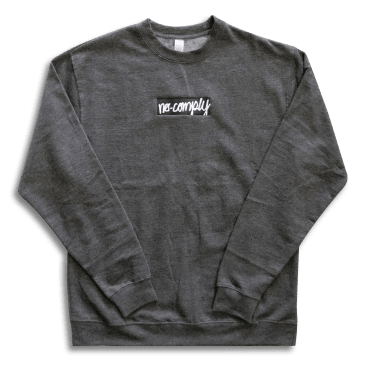 No-Comply Script Box Crew Sweater