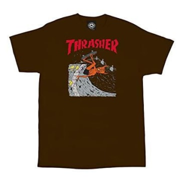 Thrasher Neckface Invert T-Shirt - Brown