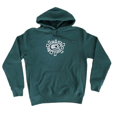always do what you should do white puff @sun hoodie - Green