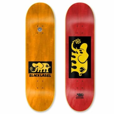 Black Label Elephant Yellow Block Assorted Stains Deck 8.25″