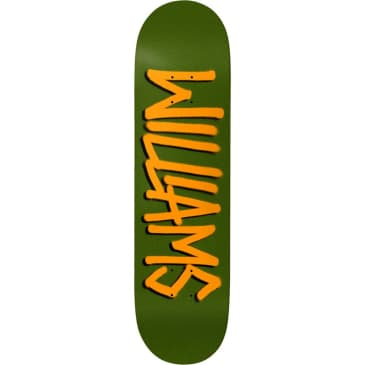 Deathwish Neen Williams Gang Name Skateboard Deck Green/Orange - 8.125