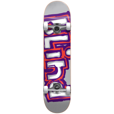 "Blind - 7.875"" Matte OG Matte Logo Complete Grey / Purple / Red Skateboard"