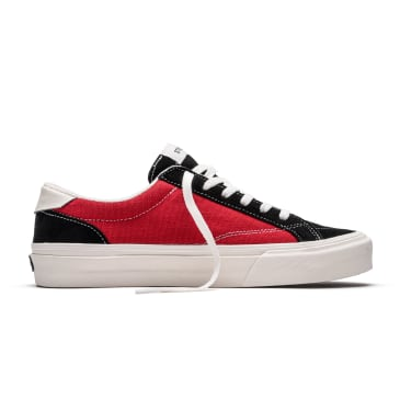 Straye Skate Shoes - Straye Logan Canvas Skate Shoe | Black & Crimson