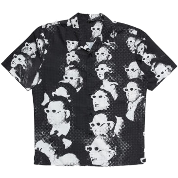 "CHINATOWN MARKET - ""THEATRE CAMP COLLAR BUTTON UP"" (BLACK)"
