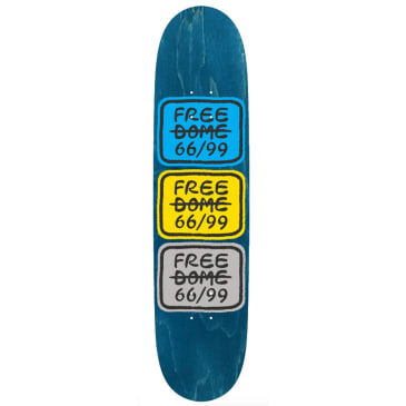 """Free Dome Skateboards - FREE DOME - Stacked Logo Deck - 8.00"""""""