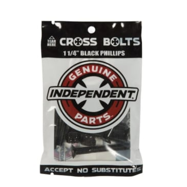 "Independent Trucks 1 1/4"" Phillips Bolts - Black"