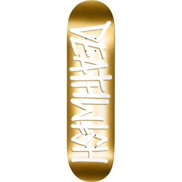 Deathwith Skateboards Deathspray Skateboard Deck Gold/White - 8.25