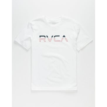 RVCA Split Pin Tee White