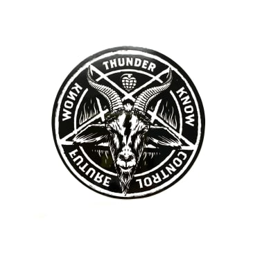 "Thunder Trucks 3"" Goat Pentagram Sticker"