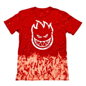 SPITFIRE Bighead Outline Fill Tee Red Wash