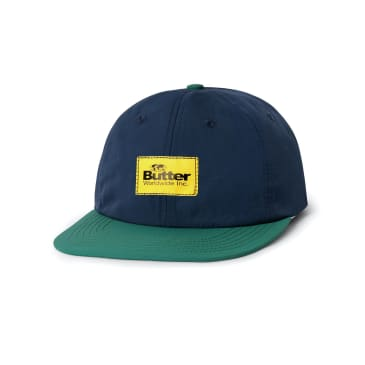 "BUTTER GOODS- ""VENTURA SIX PANEL CAP"" (NAVY/TEAL)"