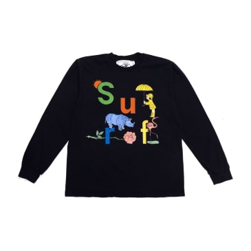 Surf Is Dead Rainy Daze L/S T-Shirt (Black)