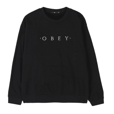 Obey Nouvelle II Crew - Black