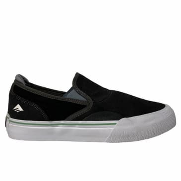 Emerica Wino G6 Slip On Skate Shoes - Dark Grey / Black