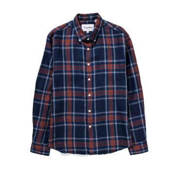 Corridor NYC - Indigo Blue Red Plaid - Navy