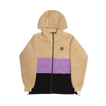 Alltimers Cousin Hooded Top - Tan/Purple/Black