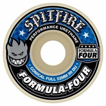 Spitfire Wheels Formula Four F4 Conical Full 99D 52mm