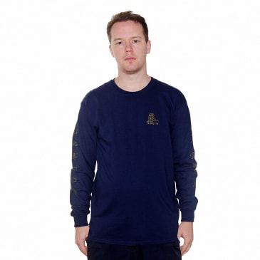 North Zodiac Logo Logo L/S T-shirt - Navy/Gold