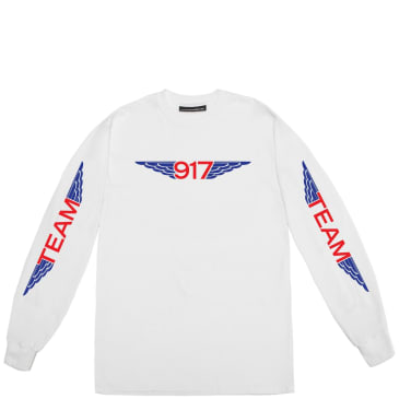 Call Me 917 Team Wings Long Sleeve T-Shirt - White