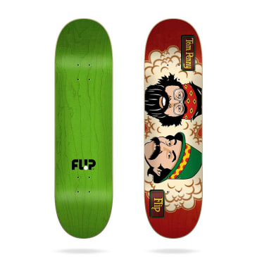 "Flip Skateboards - 8.25"" Tom Penny Tom's Friends Stained Red Skateboard Deck"