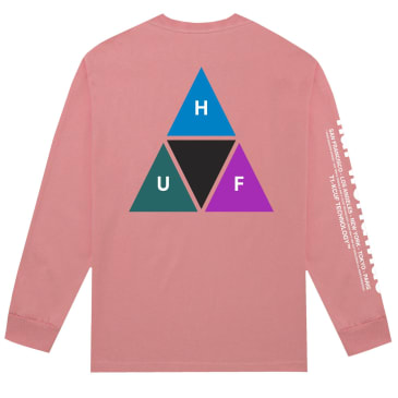 HUF Prism Triple Triangle Long Sleeve T-Shirt - Desert Flower