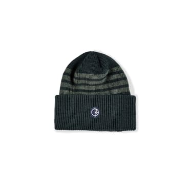 Polar Skate Co Double Fold Merino Beanie - Green Stripe
