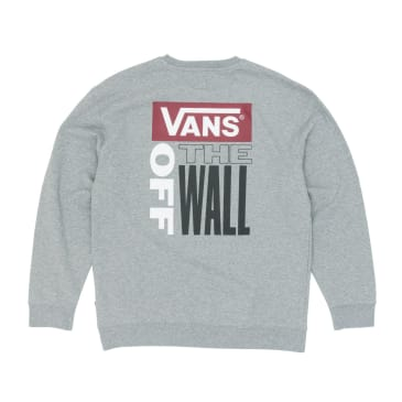 Vans Retro Tall Type Crew Sweatshirt - Cement Heather