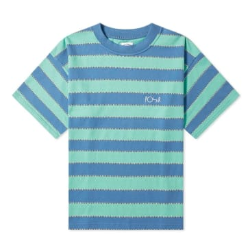 Polar Skate Co. Checkered Surf T-Shirt - Blue & Peppermint
