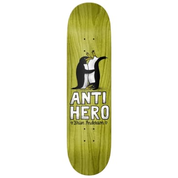 "Anti Hero Skateboards - 8.5"" Brian Anderson Lovers II Skateboard Deck - Various Wood Stains"