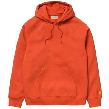 Carhartt WIP Chase Hooded Sweatshirt - Brick Orange / Gold