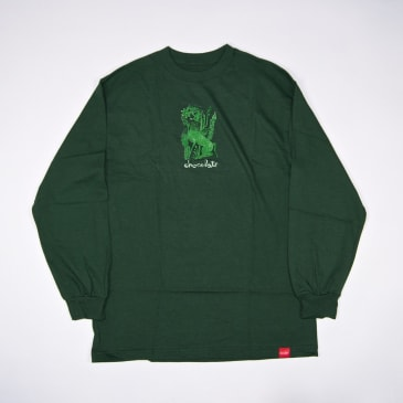 Chocolate Skateboards - Folkloric Wolf Longsleeve T-Shirt - Forest