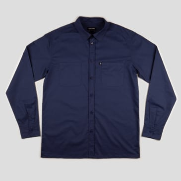 """PASS~PORT """"WORKERS"""" SHIRT L/S NAVY"""