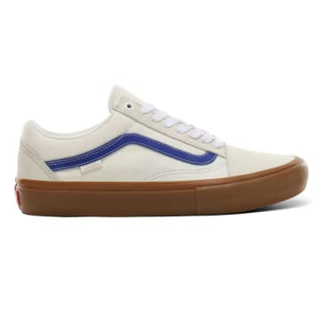 Vans Old Skool Pro Skateboard Shoes - Marshmallow/Blue/Gum