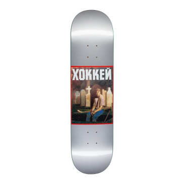 Hockey Nik Stain Satin Silver Skateboard Deck - 8""
