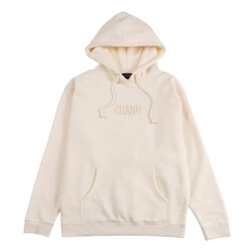 Grand Collection Tonal Embroidered Hoodie - Cream