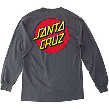 SANTA CRUZ Youth Classic Dot Longsleeve Charcoal Heather