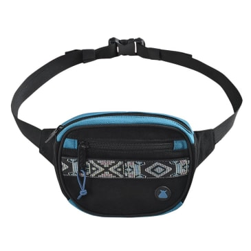bumbag oaker mini mega hip bag (black/blue)