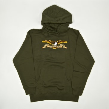 Anti Hero Skateboards - Eagle Pullover Hooded Sweatshirt - Army Green