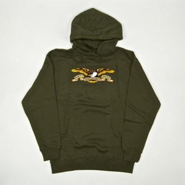 Anti Hero Skateboards - Eagle Pullover Hooded Sweatshirt - Army Green