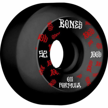 Bones 100's V5 Sidecut 52mm Wheels (Black)